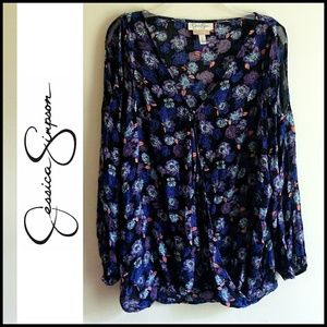Jessica Simpson Floral Breastfeeding Nursing Top